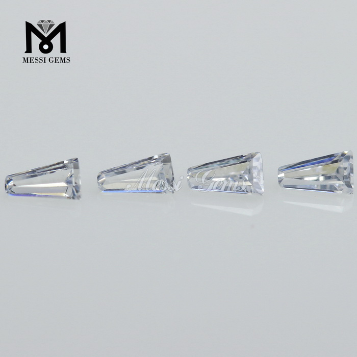 Top Quality Machine Cut Cubic Zirconia White tapp Shape CZ Pave Beads