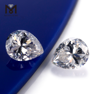 Wholesale Large size Loose gemstones color play or fire Pear Wuzhou Moissanite
