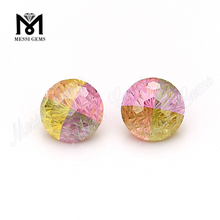 wholesale price cz gemstone 8.0 round multicolor cubic zirconia
