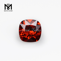 wholesale 6x6mm cushion cut garnet cubic zirconia stone