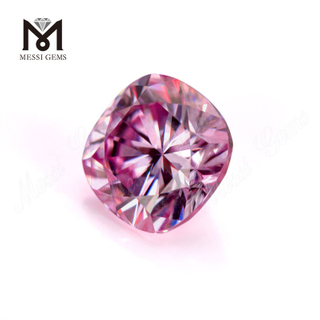 Factory wholesale cushion shape pink moissanite stone