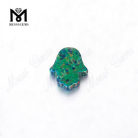 OP69 11x13mm synthetic hamsa opal beads price for jewelry making