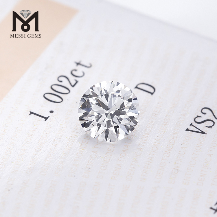 loose Round D VS2 round 1.002ct HPHT Lab Grown Diamond