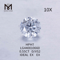 0.55CT D/VS2 round lab grown diamond IDEAL