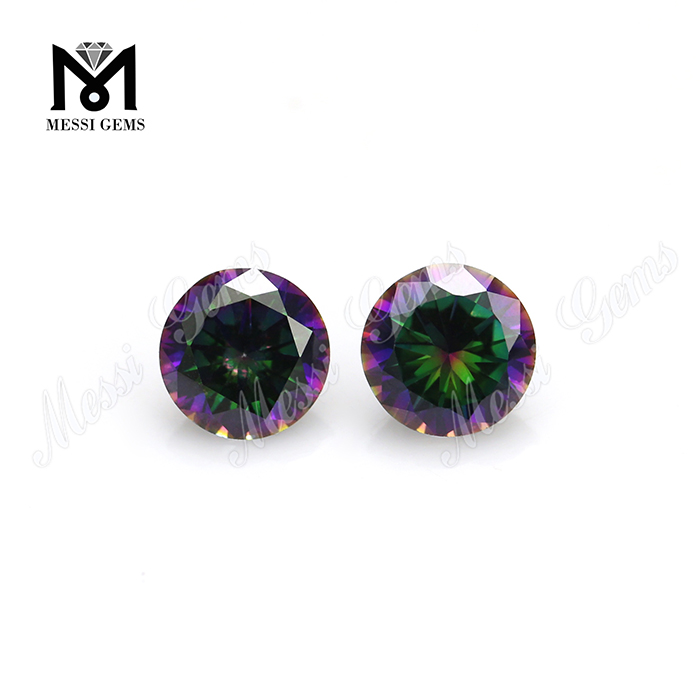 wholesale price cz gemstone 6.0MM round multicolor cubic zirconia