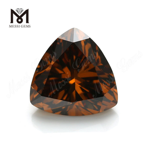 Factory price synthetic cubic zirconia gemstone trillion cut 10x10mm offee cz