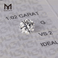 1.02ct G color round cut lab diamond VS2 synthetic diamond