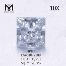 1.01CT D/VS1 Square loose lab grown diamond VG