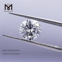 2.09ct E SI2 Lab Grown Diamonds Round Cut HPHT CVD NGIC Certificate