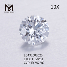 1.03 carat G/VS1 CVD Round lab grown diamond