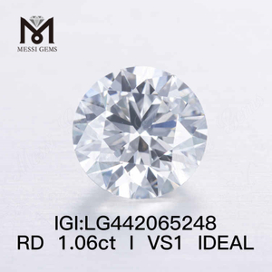 1.06CT I/VS1 round IDEAL lab grown diamond