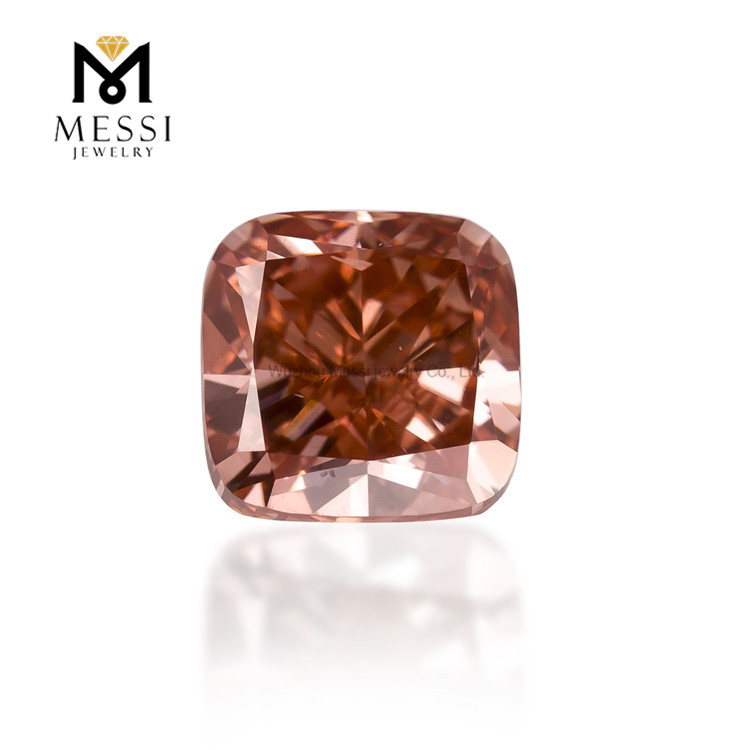 synthetic hpht diamond 2ct pink cushion lab grown cvd diamond price