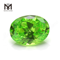 Factory Price Oval 12x16 mm Apple Green Cubic Zirconia Gemstone