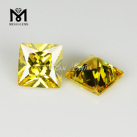 Manufacturer Princess Cut Yellow Cubic Zirconia Synthetic Stones Square