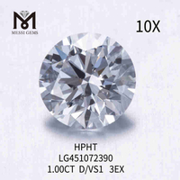 1.00CT D/VS1 lab created diamond 3EX HPHT