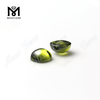 Olive color play or fire Cushion-CAB cubic zirconia wholesale price 10x10mm