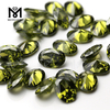 Oval cut 5x7mm Color play or fire Olive cubic zirconia Heat