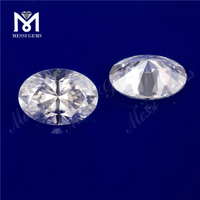 8*10mm 2.5ct White oval cut color play or fire Moissanite for jewelry