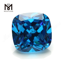 Loose CZ Stone Cushion Cut 10 x 10 mm sapphire Color Cubic Zirconia Stone