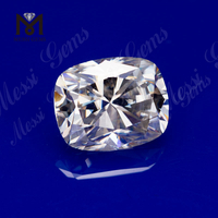 loose gemstones 8x10mm Cushion cut EF White Wuzhou Moissanite price per carat