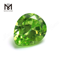 Factory Price pear 10x12 mm Apple Green Cubic Zirconia Gemstone