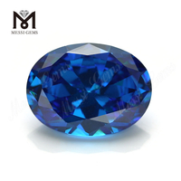 High Quality oval Shape 12x16mm Blue topaz CZ Cubic Zirconia Stone Price
