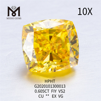 0.605ct FIY CU EX lab grown diamond VS2 VG