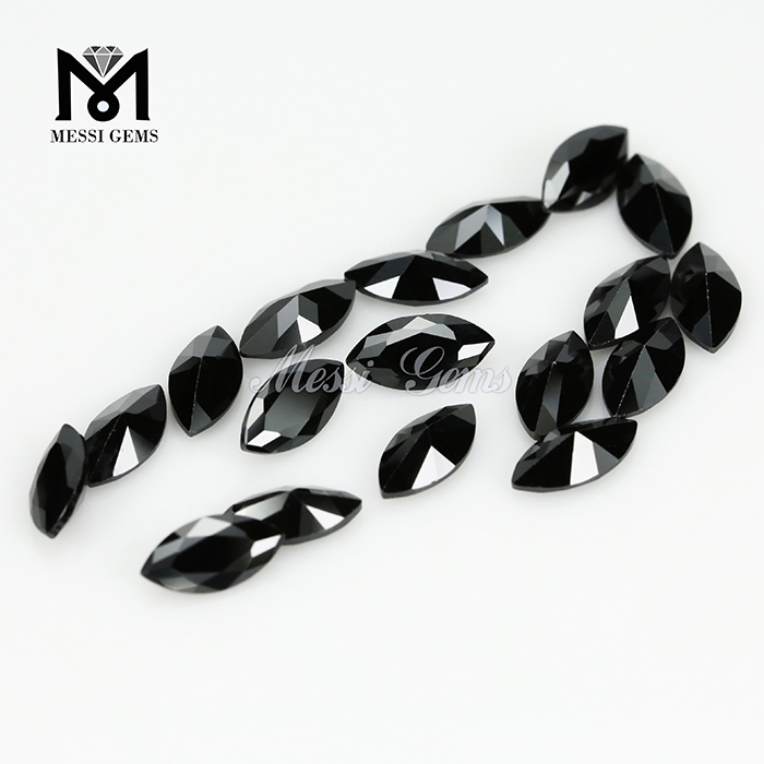 Wholesale price marquise cut 3.5x 7mm black cubic zirconia stones