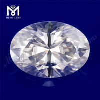 Loose synthetic white vvs oval brilliant cut 6X8MM moissanite stone