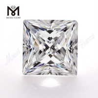 Loose synthetic princess 7x7mm 2 carat D color white price per carat moissanite