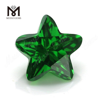 Green color star shape cubic zirconia stones 3*3-12*12mm CZ for jewelry making