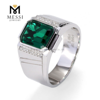 18k emerald rings men jewelry gift white gold 14K 18K party men wearing marry rings